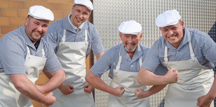 Fleischermeister Rösner und seine Fleischer