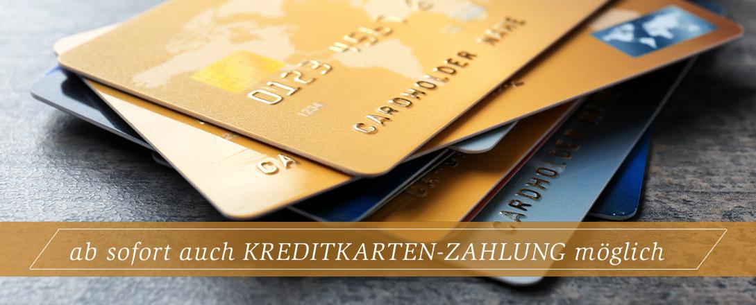 ab sofort Kreditkarte